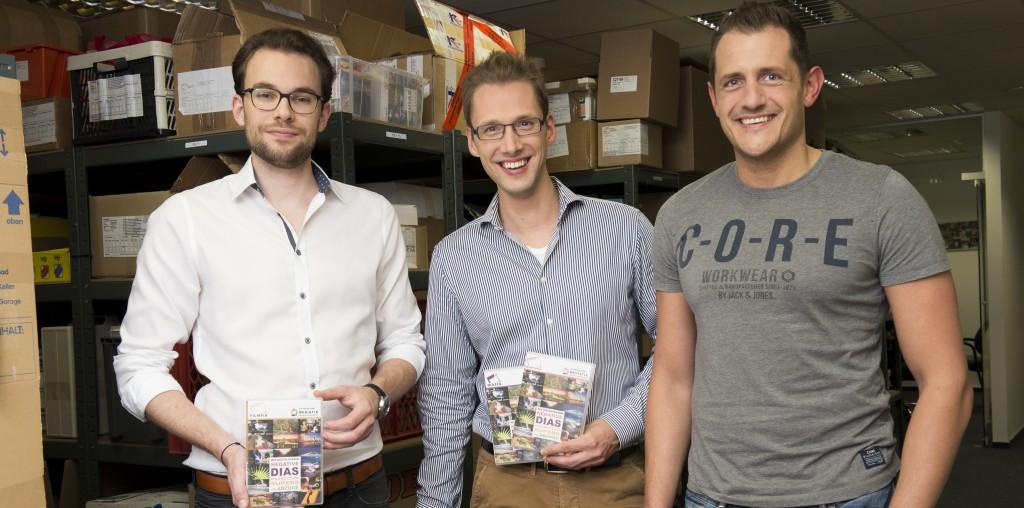 Die Fotoscanfix-Gründer: Stefan Wickler, Hans-Günter Herrmann, Christoph Kind.